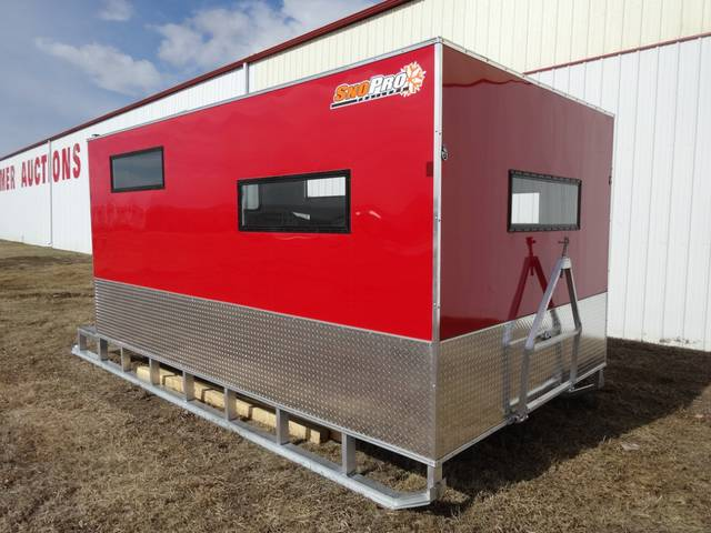 2014 sno pro 8x14 ice fishing shack kramer trailer sales for Ice fishing shelters for sale