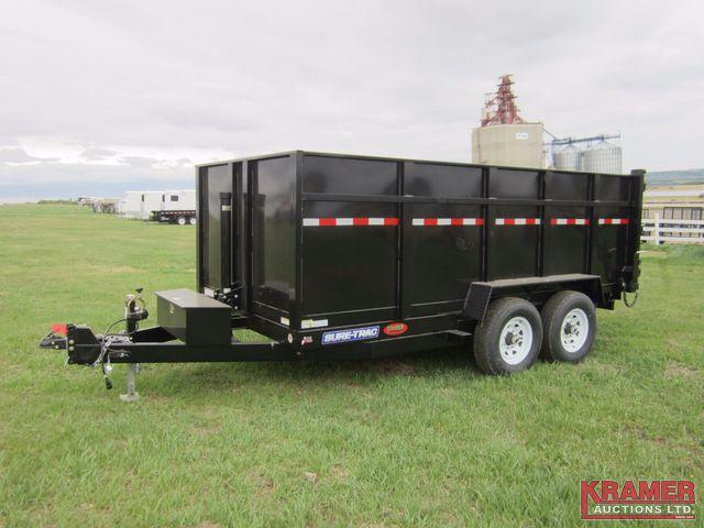 2016 Sure-Trac ST8214TLDD-B-140 14' Dump Box Trailer *High ...
