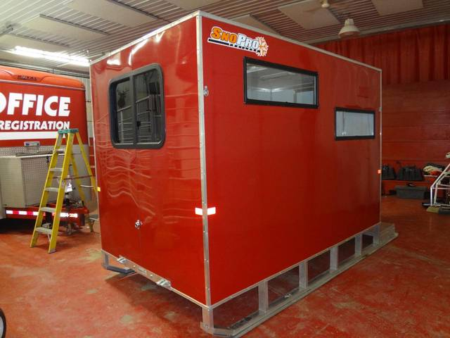 2013 sno pro 6 x 10 ice fishing shack kramer trailer sales for Ice fishing huts for sale